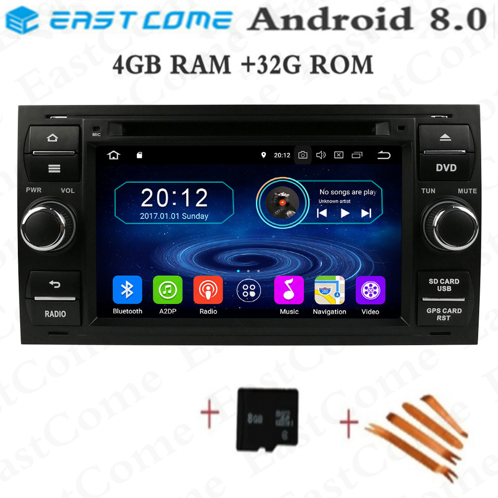 Android 8.0 Octa Core 4 GB RAM lecteur DVD de voiture pour Ford Mondeo Focus Fiesta Transit Galaxy Fusion C-MAX S-MAX C S MAX Radio GPS
