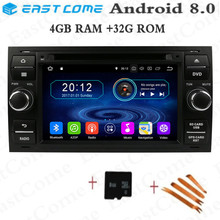 цена на Android 8.0 Octa Core 4GB RAM Car DVD Player For Ford Mondeo Focus Fiesta Transit Galaxy Fusion C-MAX S-MAX C S MAX Radio GPS