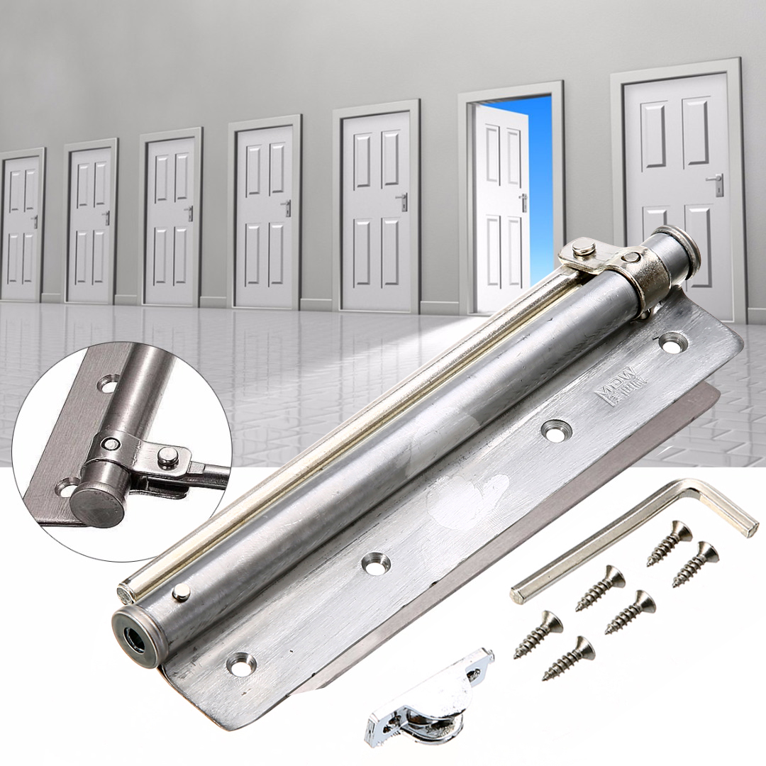 2017 Changeable Surface Mounted Auto Closing Door Closer Fire Rated Stainless Door Hardware Mayitr 20 40kg adjustable high quality surface mounted door closer invisible buffer closed fire door access control
