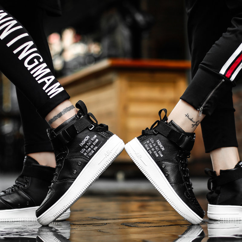 High top parallel Canvas shoes Force One sneakers men sport shoes women running shoes for men Unisex trainers zapatos de mujer 3