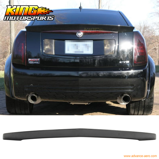 For 03 07 Cadillac Cts Sedan Unpaintaed Trunk Spoiler Flush Mount Abs