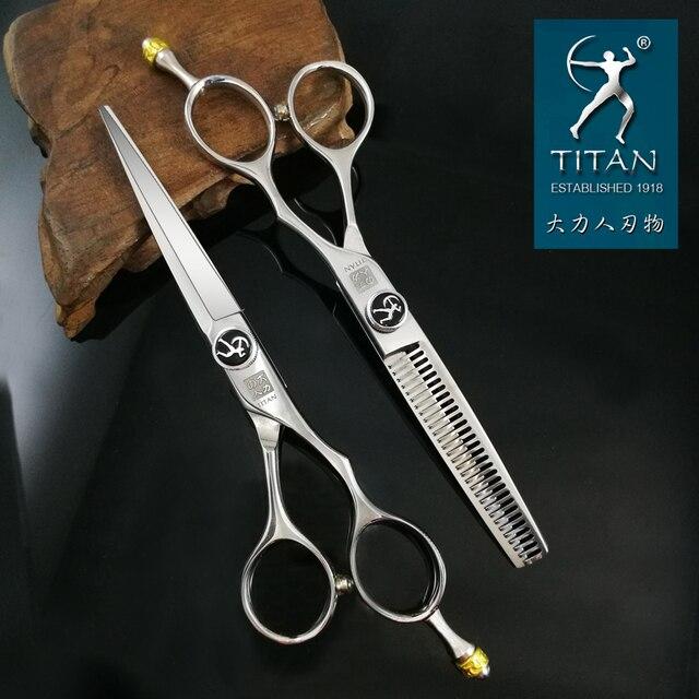 Бесплатная доставка, профессиональные ножницы для волос, титановые 6,0 дюймовые Парикмахерские ножницы