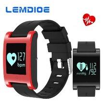 Lemdoie сердечного ритма Смарт Браслет DM68 IP67 Водонепроницаемый Смарт Браслет Приборы для измерения артериального давления Мониторы Фитнес Трекер Смарт-часы для телефона