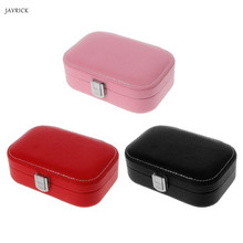 Travel Jewelry Box Portable Leather Earrings Rings Storage Case