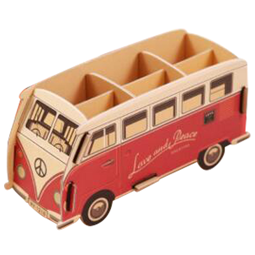 Lovely Multifunction DIY Pen Holder Pens stand Pencil Holders for Desk Large Office Accessories Supplies Stationery (red bus)2 1pcs black piano diy puzzle pen holder pens stand multifunction pencil holders for desk office scool supplies stationery gifts
