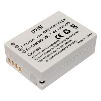 цена на DVISI 7.4V 1300mAh NB-10L batteries  NB 10L Camera Battery for Canon SX40 HS SX40HS SX50 HS SX50HS G1 X G1X G15 G16 SX60 HS G3X