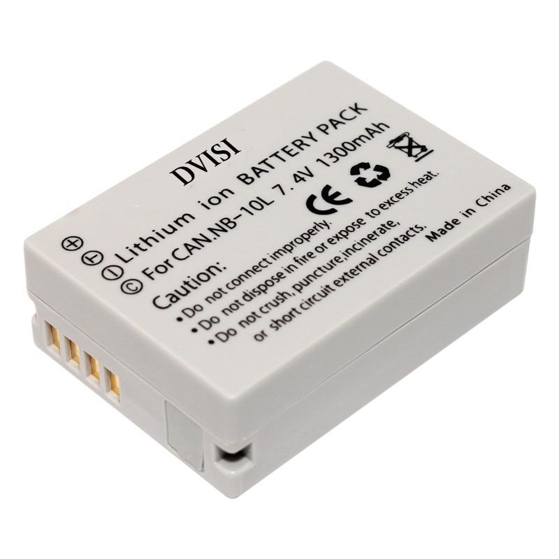 DVISI 7.4V 1300mAh NB-10L batteries NB 10L Camera Battery for Canon SX40 HS SX40HS SX50 HS SX50HS G1 X G1X G15 G16 SX60 HS G3X