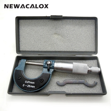 NEWACALOX Measuring Tools Outside Micrometer 0-25mm/0.01mm Stainless Steel Gauge Vernier Caliper