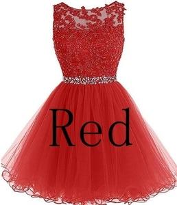 Image 4 - ANGELSBRIDEP seksi kısa/Mini mezuniyet elbiseleri 2020 aplikler boncuk Vestidos Cortos özel durum mezuniyet elbiseleri
