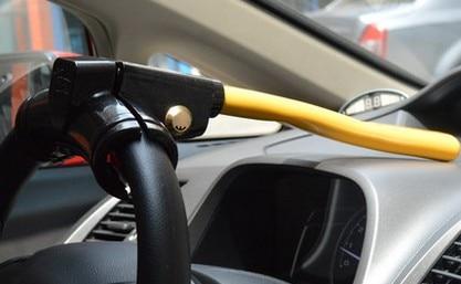 T Shaped Type Car Steering Wheel Lock Auto Anti Theft Lock In Car