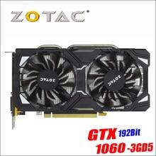 D'origine ZOTAC Carte Vidéo GP106-400 GPU GTX 1060 3 gb 192Bit GDDR5 Cartes Graphiques Carte pour nVIDIA GeForce GTX1060 3GD5
