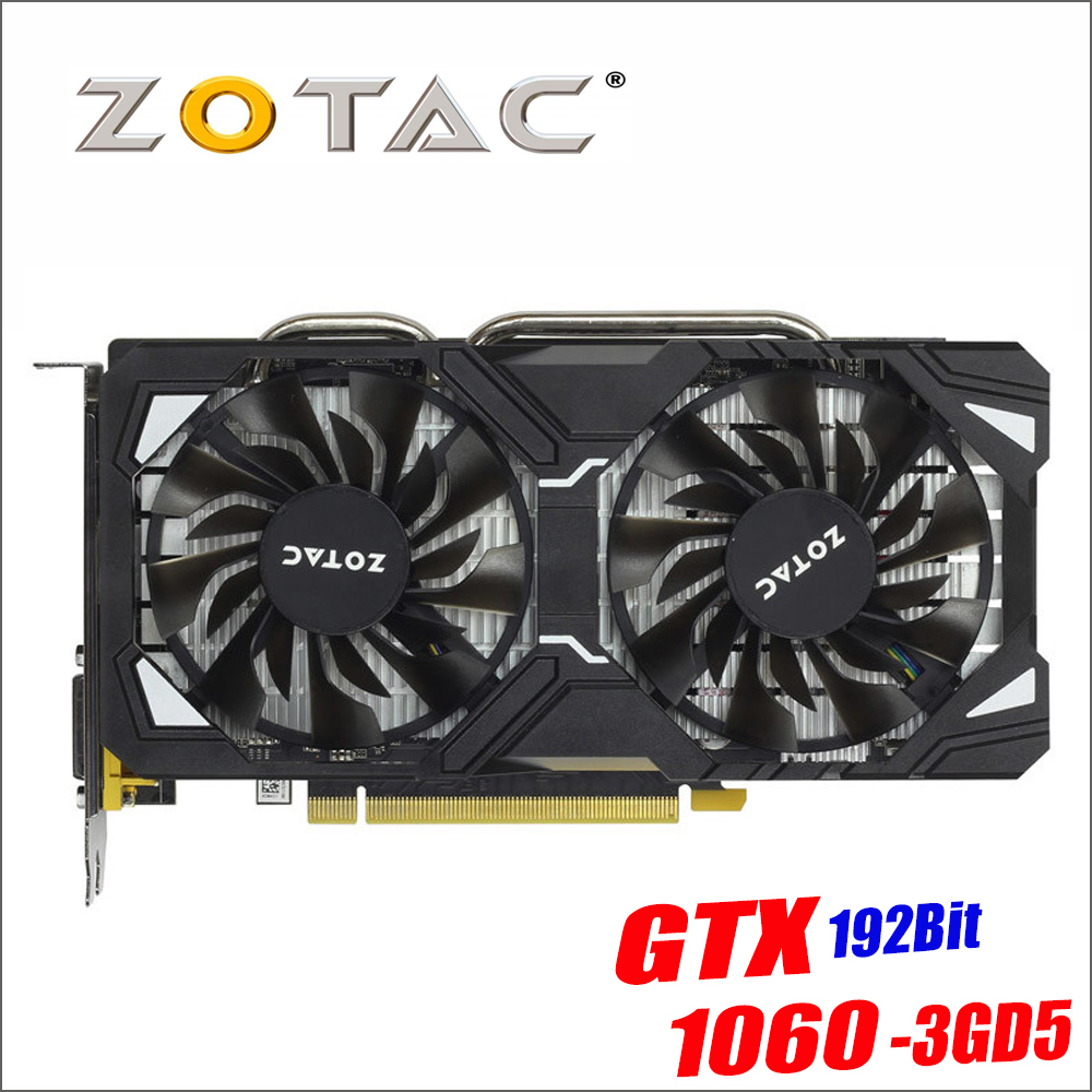Original ZOTAC Video Karte GP106-400 GPU GTX 1060 3 gb 192Bit GDDR5 Grafiken Karten Karte für nVIDIA GeForce GTX1060 3GD5