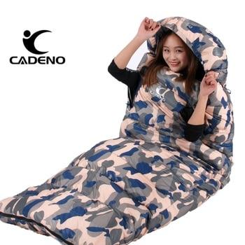 Ultralight Sleeping Bag Camping Sleeping Bag Winter Sleeping Bag Duck Down Envelope Type Outdoor Camping Accessories 210*80cm 5