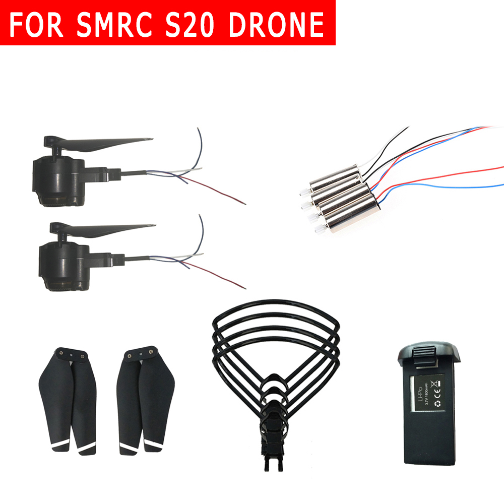 <font><b>SMRC</b></font> S20 drone extra battery/propeller/blades/protective frame/spare motor/Fold Wing Arm GPS Motor Engine Propeller Fixed Cover image