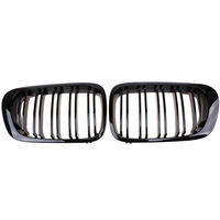 Gloss Black Kidney Grill Grille For BMW E46 3 Series 2 Door M3 Coupe Cabrio 2pcs