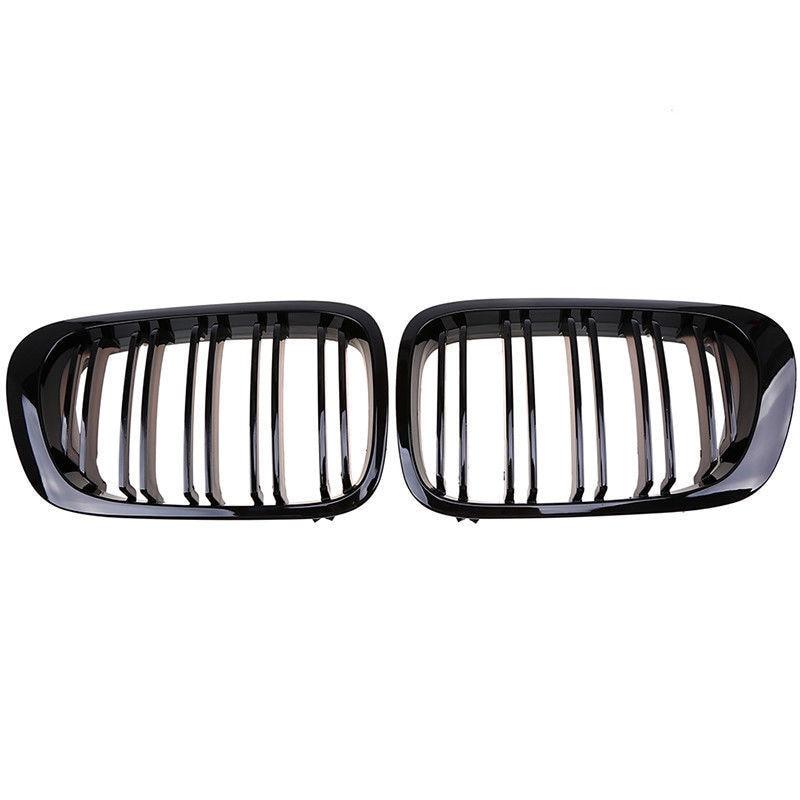Grille de calandre noire brillante pour BMW E46 série 3 2 portes M3 coupé Cabrio 2 pièces