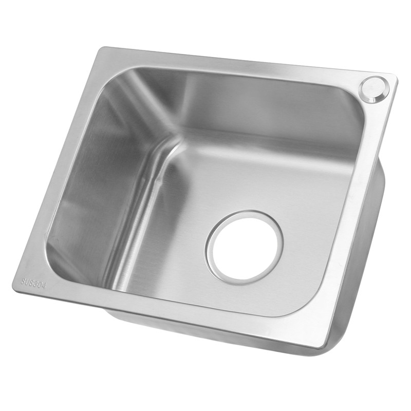 Xueqin 420x360mm 304 Stainless Steel Durable Household Undermount Single Bowl Kitchen Sink Small Inset Tub u2 360° at the rose bowl