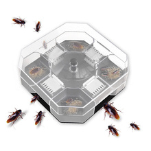 Household Effective Cockroach Traps Box Indoor Auto Roach Killer Trap Mini Reusable Cockroaches Catcher for Kitchen bathrooms