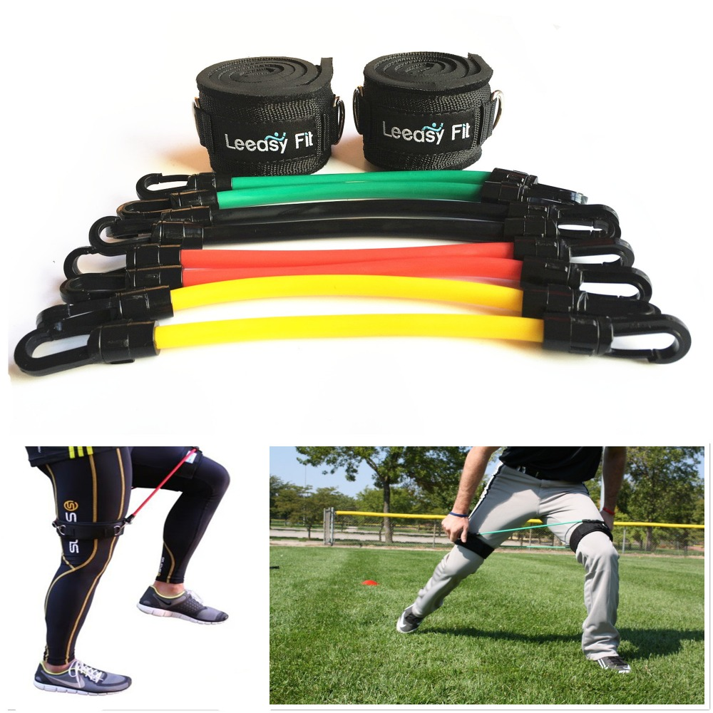8 Tubes Resistance Bands Trainer Rope Crossfit Leg