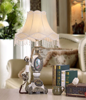 Modern European style bedroom lamp telephone antique creative lamp bedside lamp