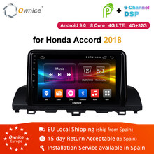 "Ownice K1 K2 K3 9"" IPS 2.5D Screen Android 8.1 8 Core 2Din Car DVD GPS For Honda Accord 2018 Support Radio Navigation 4G LTE OBD(China)"