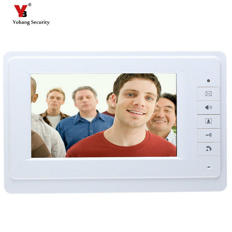 Yobang Security freeship  7 LCD indoor monitor without outdoor camera indoor screen for video intercom door bell phone yobang security metal outdoor unit ir door camera for doorphone monitor rainproof outdoor camera for video door phone no screen