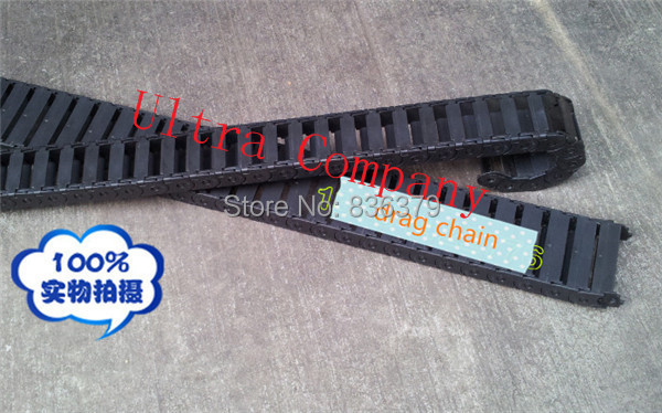 New 15 50 Cable drag chain wire carrier 15 50 1000mm with end connector Semi enclosed
