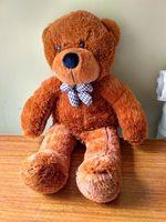 Lovely Huge Bear Toy Plushed Toy Cute Big Eyes Bow Stuffed Bear Toy Teddy Bear Birthday
