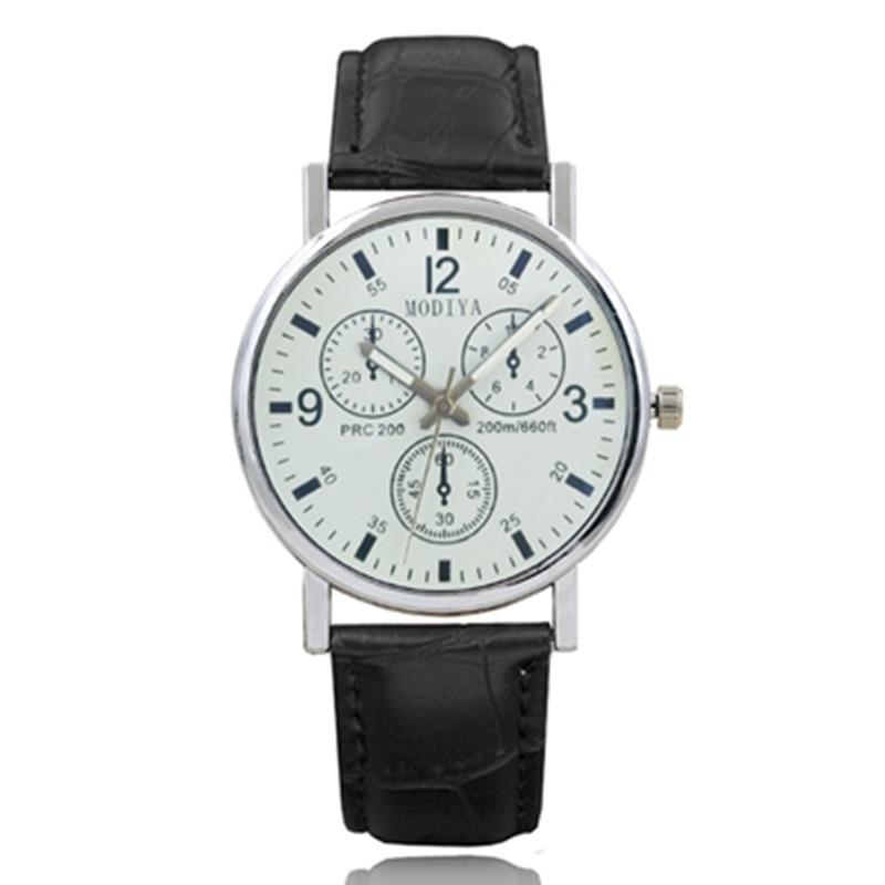 Pu Leather Watch Luxury Men Luminous Watches Analog Military Sports Watch Quartz Male Wristwatches Hour Relogio Masculino