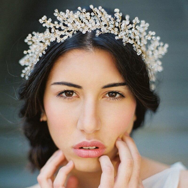 ̿̿̿(•̪ )Vintage Handmade crystal headbands bridal hair accessories ...