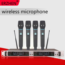 Wireless Microphone System 406GT Professional 4-Channel UHF Dynamic 4 Handheld