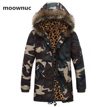 Men's camouflage Jacket 2018 Winter Warm Thick Jackets Men's Fashion Coat Outerwear Mens Hooded windbreaker jacket men