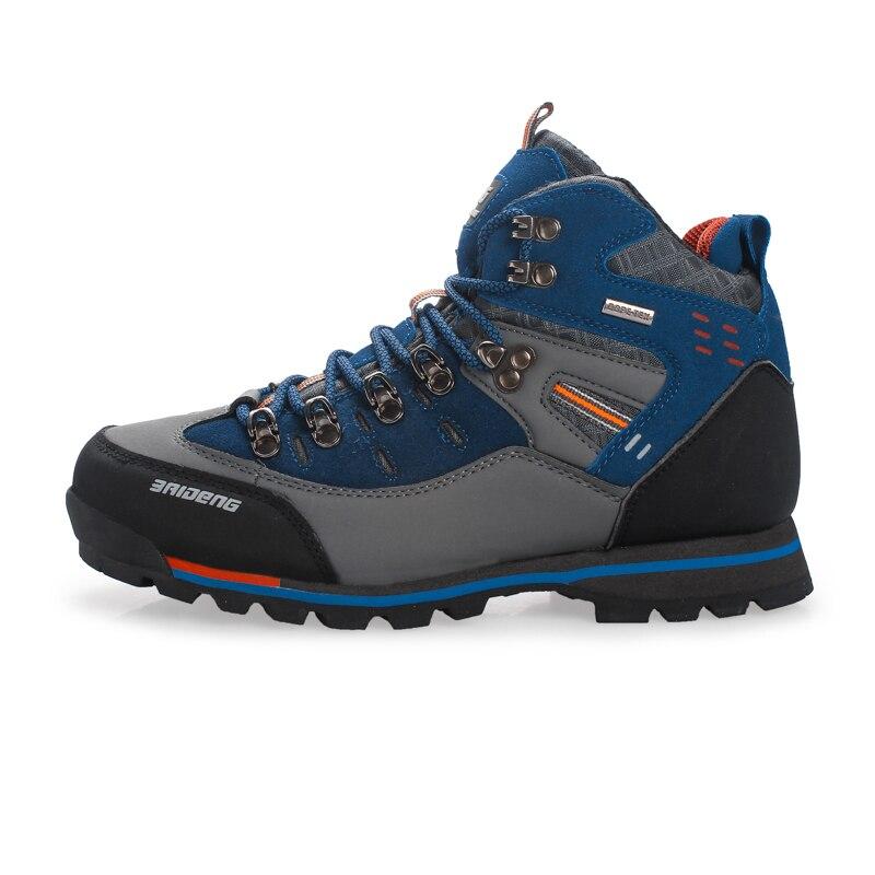 Hommes chaussures de randonnée chaussures en cuir imperméables escalade et chaussures de pêche nouvelles chaussures de plein air populaires haut athlétique respirant