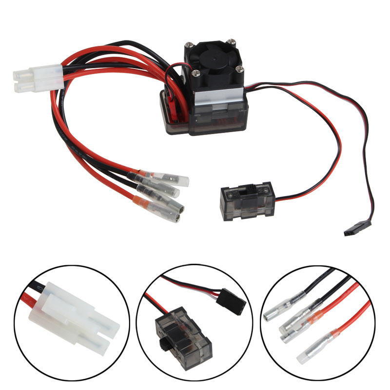 цена на 2018 7.2V-16V High Voltage ESC 320A Brushed Speed Controller Fan Fr RC Car Truck Boat JUL31_32