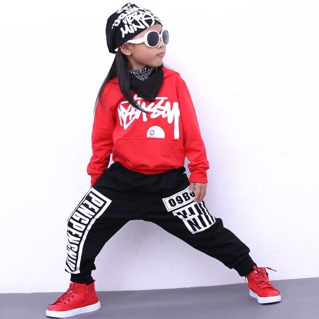 Roupas de Primavera do bebê da criança roupas de menina das crianças Esportes Terno Unisex 2 pcs set meninas boutique roupas roupas de Hip Hop crianças