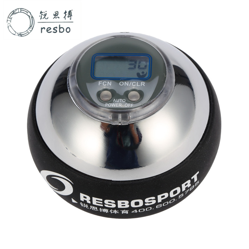 48lbs 12000+ RPM Power Wrist Ball Metal Silver Counter Gyroscopic Wrist Ball Strengthen Spinner Counter Force Fitness Ball F