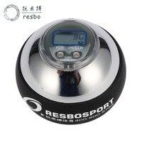 48lbs 12000+ RPM Power Wrist Ball Metal Silver Counter Gyroscopic Wrist Ball Strengthen Spinner Counter force Fitness Ball T