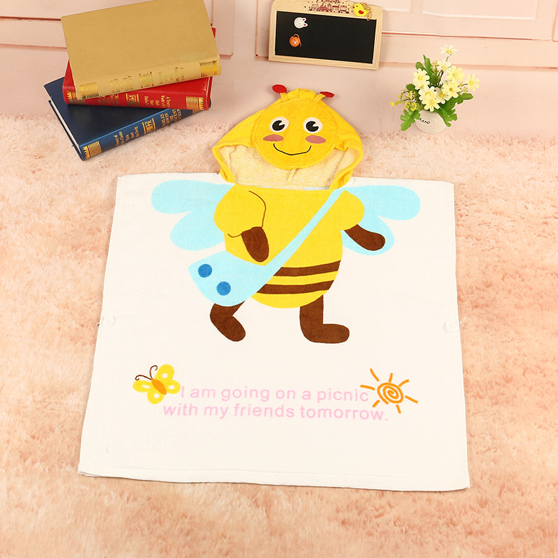 Cartton Hooded Towels Cartoon Poncho Bee giraffe Modeling Baby Kid Bath Towel Childrens Beach Towel Ponchos/Infant Wrap Pajamas