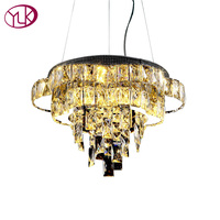 Youlaike Modern LED Chandelier Lighting Luxury Dining Room Crystal Light Fixtures Flush Mount Room Lamps Cristal