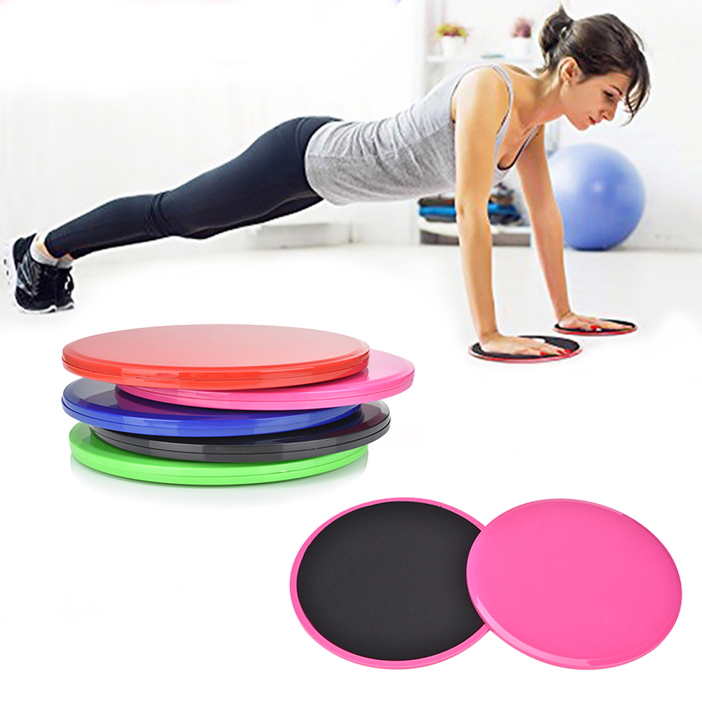 2Pcs Exercise Sliding Gliding Discs Yoga Fitness Abdominal Trainers Core Slider