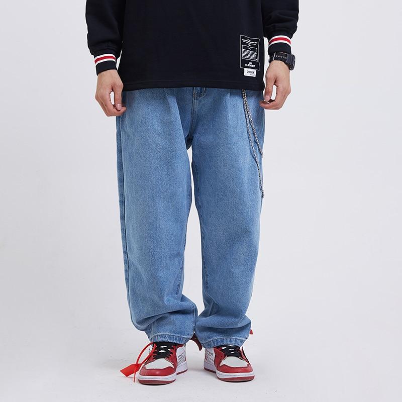 Piedino Del Streetwear Pantaloni Moda Gli Denim Larghi Pant Hip Casual Di  Harem Uomini Maschili Allentati Jeans Hop ... a76d86a3bf55