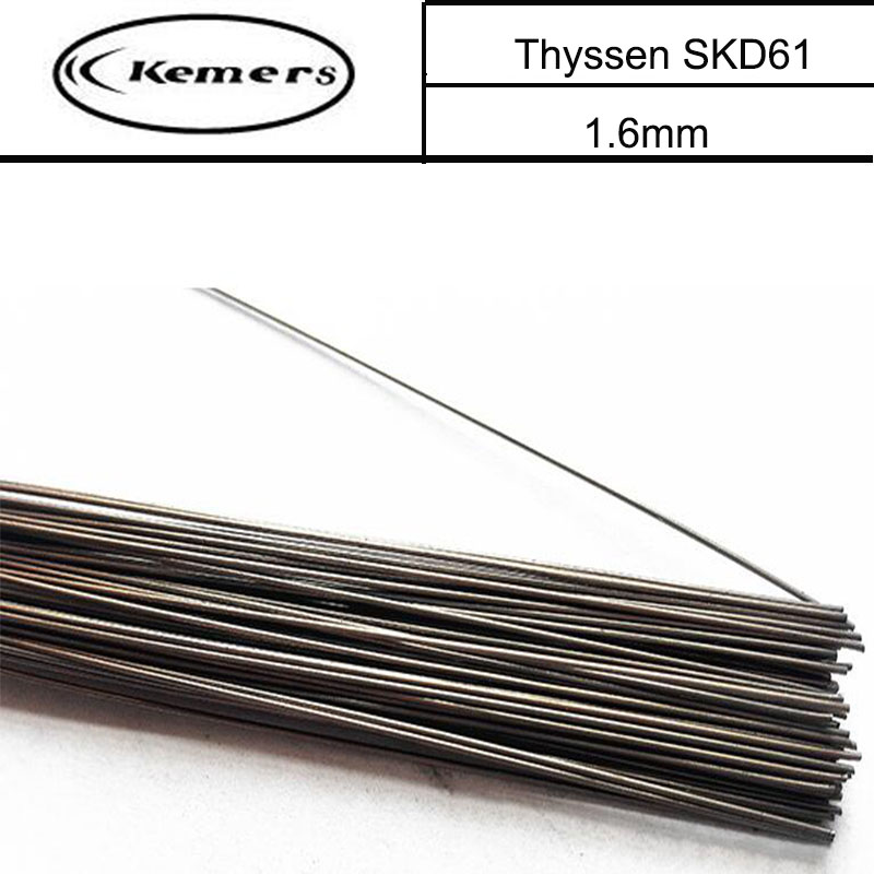 1KG/Pack 1.6mm Thyssen SKD61 TIG Welding wires&Repairing Mould argon Soldering Wire for argon arc Welding F055 mig mag burner gas burner gas linternas wp 17 sr 17 tig welding torch complete 17feet 5meter soldering iron air cooled 150amp