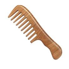 1 шт., ручная работа, деревянный сандаловое дерево, широкая зубная расческа, натуральный массажер для головы, расчески для волос, уход за волосами
