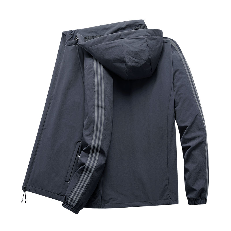 6xl 7xl 8xl  Plus Size Spring And Autumn Jacket Solid Coat  Male Coat Young Men Hooded Jacket Jackets Brand Casual Windbreaker