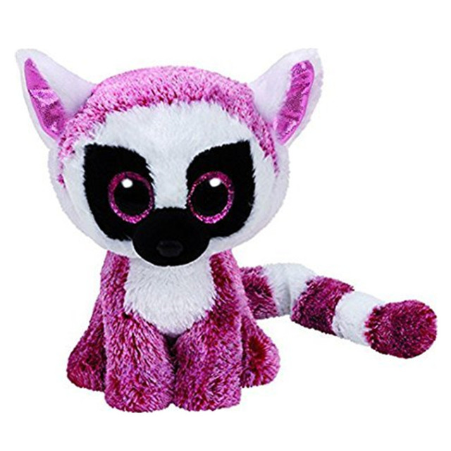 94a4d81df7f Ty Beanie Boos Plush Toys Beanie Babies Big Eyes Long tail monkey Animal  Doll Toys For Children