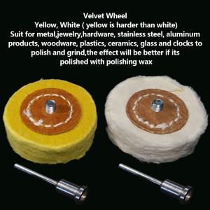 Image 5 - T Style Polish Buffing Wheel Grinding Head Cloth Dremel Wheel Grinder Brush For Rotary Abrasive Tools Dremel Accessories Shank