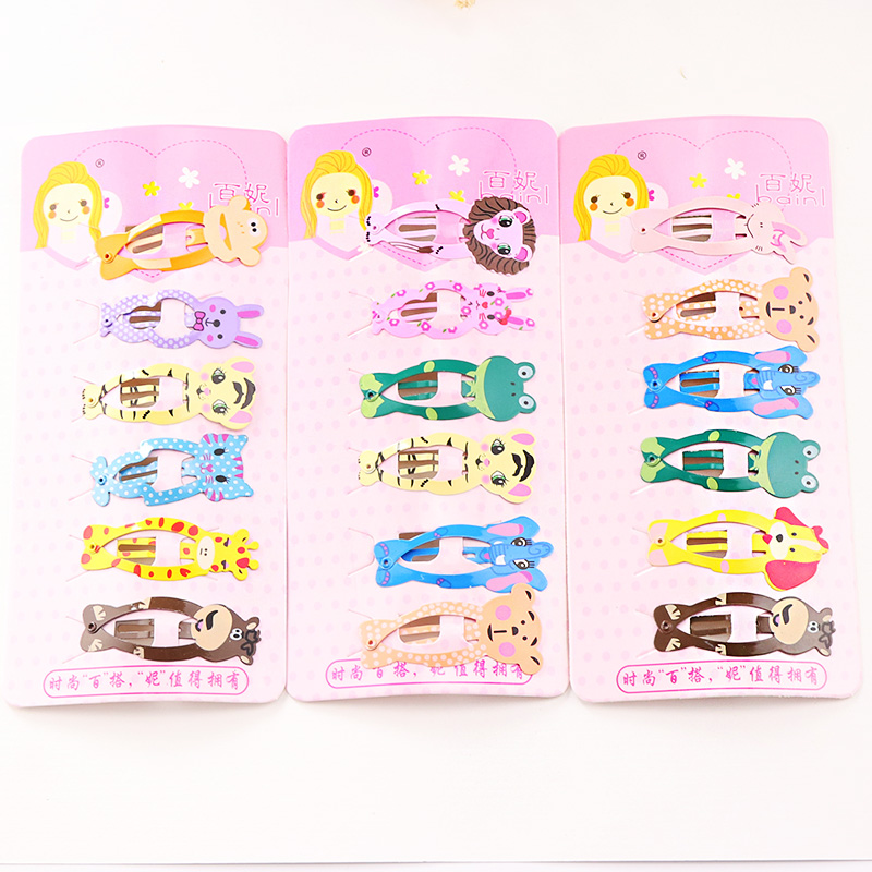6PCS/Lot New Little Girl Cute Cartoon Animal Barrettes Kid Headwear Hair Clip Children Gift Hair Accessories Snap Clips Hairpins цена