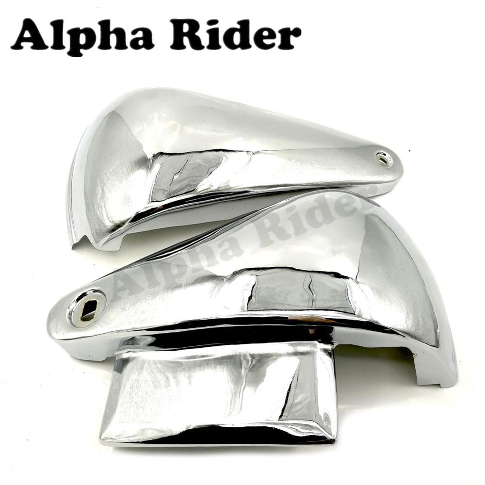 Motorcycle Battery Side Covers Frame Guard Fairing Protect Chrome for Kawasaki Vulcan 400 800 VN400 VN800