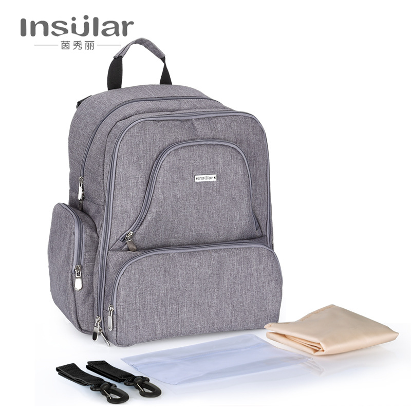 купить Multifuntion Baby Diaper Backpack Mummy Bag Baby Waterproof Nappy Changing Backpack Fashion Baby Stroller Bag по цене 2131.04 рублей