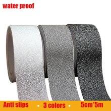 Haute qualité 5 cm * 5 m étanche souple PVEA matériaux Salle De Bains salle de la maternelle plancher de céramique anti slip bande